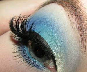 blue, makeup, and blue eyeshadow image