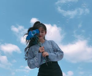 blue, sky, and ulzzang image