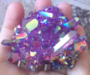crystals, sparkle, and lavender image