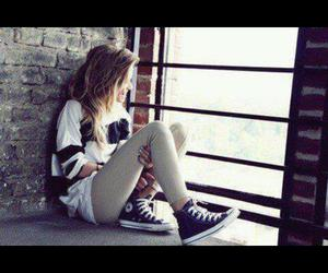 girl, converse, and style image