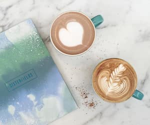 blue, cappuccino, and coffee image