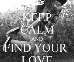 keep calm, love, and couple image
