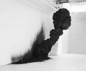 black, smoke, and art image