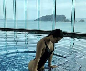 bikini, pool, and pose image