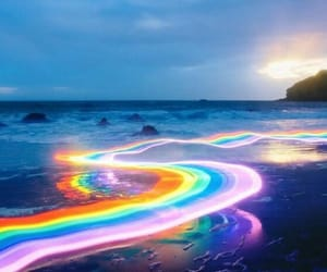 colored, light, and rainbows image