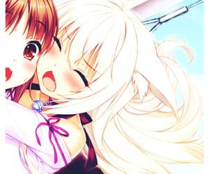 anime, coconut, and couple image