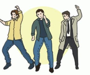 dancing, dean winchester, and fanart image