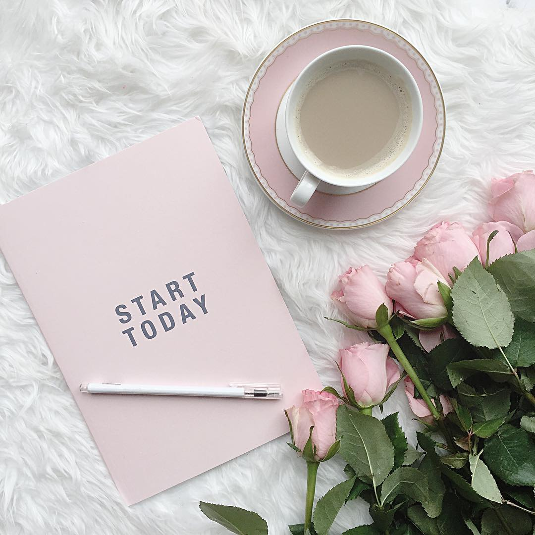 pink coffee planner motivational quotes start today pink