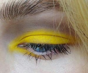yellow, aesthetic, and eyes image