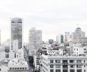 city, white, and building image