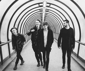 the 1975, band, and black and white image