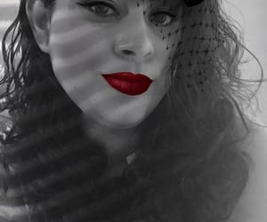 red lips, beautiful, and sassy image