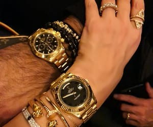 couple, gold, and man image