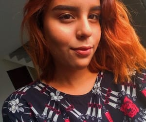 aesthetic, orangehair, and soft image