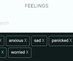 anxiety, anxious, and nervous image