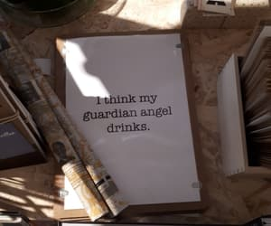 angel, drinks, and guardian image