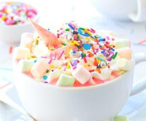 unicorn, food, and marshmallow image
