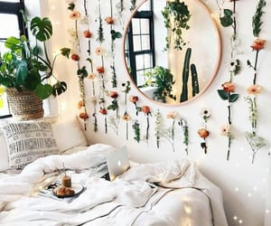 flowers, bedroom, and plants image