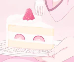 gif, anime, and pink image