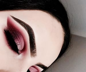 eyeshadow, pink, and red image