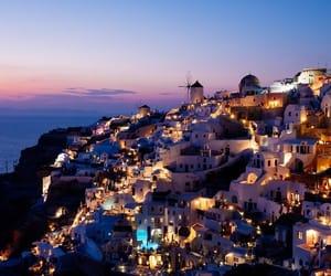 Greece, light, and santorini image