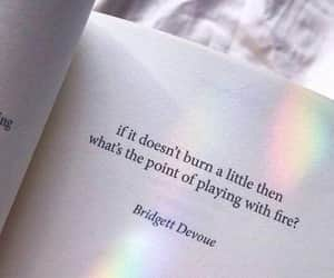 quotes, book, and fire image