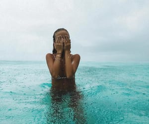 girl, ocean, and Maldives image