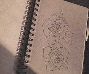 drawing, aesthetic, and brown image