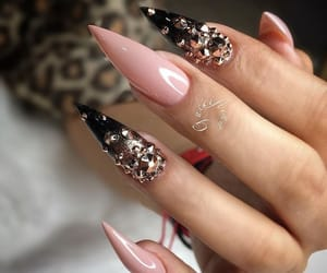 black, glitter, and Nude image