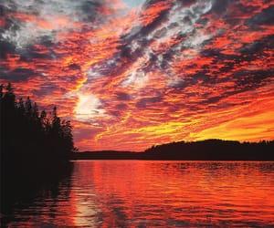 beaches, sunset, and sundown image