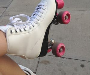 pink, white, and skate image