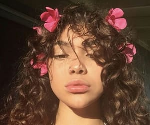 flowers, girl, and curly image