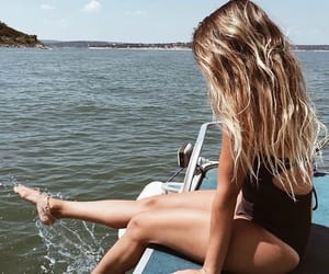 summer, boat, and girl image