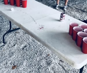 beer pong, chillin, and drinks image