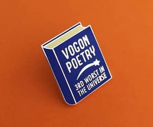 books, pin, and douglas adams image