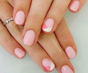 geometric, nails, and rings image