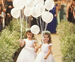 adorable, girls, and balloons image