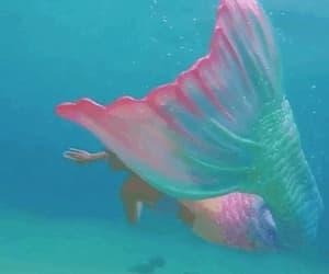 mermaid, gif, and fantasy image