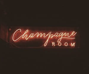 champagne, light, and neon image