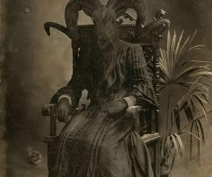 occult, bizzare, and goat image