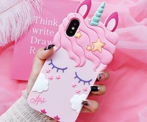 unicorn, iphone, and pink image