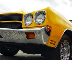 chevrolet, muscle cars, and yellow image