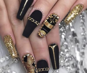 black and gold, bling, and cyber image