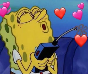 memes, spongebob, and love image