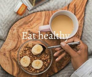 aesthetic, bananas, and breakfast image
