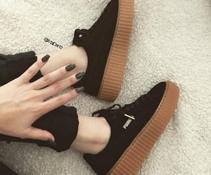 black, creepers, and denim image