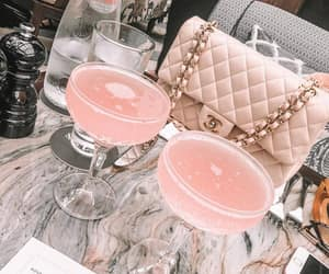 drink, pink, and chanel image