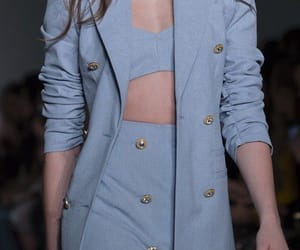 blue, button, and fashion image