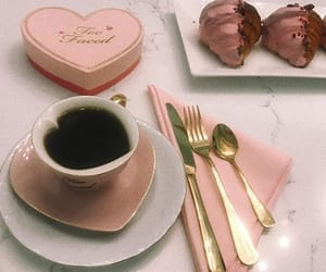 coffee, pink, and too faced image