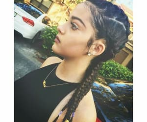 braids, malu, and white cars image